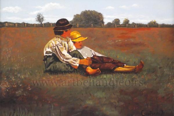 Sinđelić Gradimir, Tehnika: ulje na platnu, Šifra slike: 8766, Format: 34 x 24