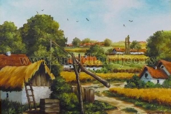 Terecki Gordana, Tehnika: ulje na platnu, Šifra slike: 2266-15, Format: 40 x 30