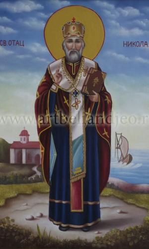 01. Sveti Nikola - ulje na platnu