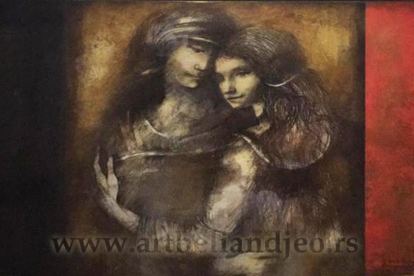 Kombinovana tehnika Naziv: Renesansni ljubavnici