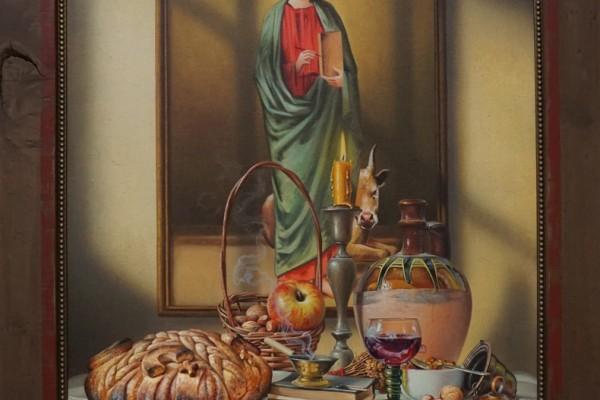 Tomasevic Jovica Naziv slike: Sv.Luka Format:60x80 Šifra slike: 5796-20