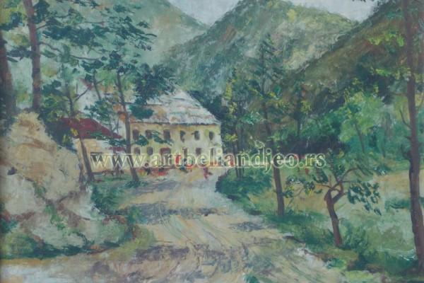 Stojkov Sava, Tehnika: ulje na platnu, Šifra slike: 1290-14, Format: 50 x 60