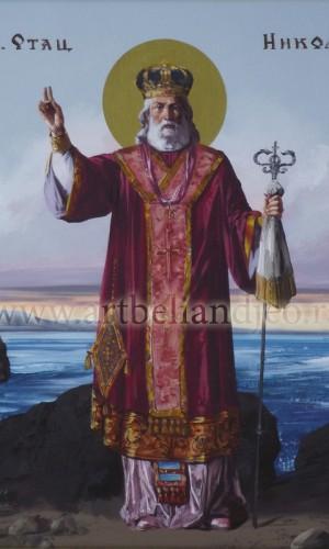 03. Sveti Nikola - ulje na platnu