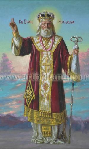 06. Sveti Nikola - ulje na platnu