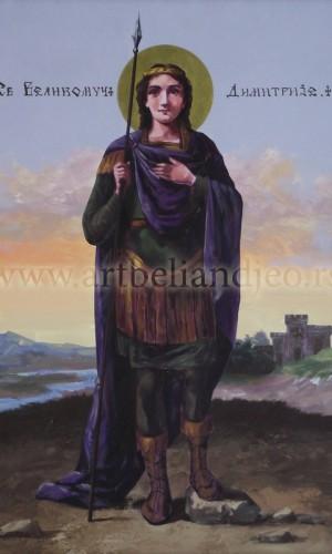 09. Sv. Velikomučenik Dimitrije - ulje na platnu