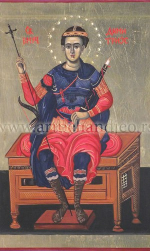 01. Sv. Velikomučenik Dimitrije - na lipovoj dasci
