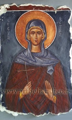 Sveta Petka - freska