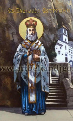 16. Sv. Vasilije Ostroški - ulje na platnu