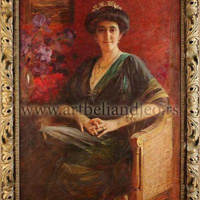 Portret Marije Milovanović u enterijeru, Godina: 1911.